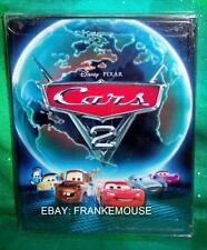 RARE OOP BEST BUY ONLY DISNEY CARS 2 BLU RAY 3D BLU & DVD 4 DISC STEELBOOK MOVIE