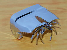 Chrome Motorcycle Widow Spider Rear Tail Light Cover Harley Dyna Electra Glide