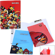 Rovio Angry Birds Multipurpose File Holder 3 Tab Poly Folder 3pc Set Licensed