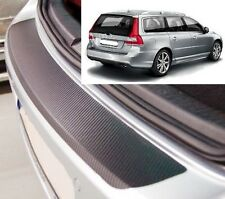 Volvo V70 Ranchera MK3 - Estilo Carbono parachoques trasero Protector