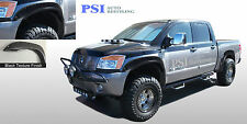 Fits NISSAN TITAN 04 - 14  WITH BEDSIDE LOCKBOX ONLY RIVET Fender Flares TEXTURE