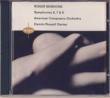 Sessions - Davies, American Composers Orchestra: Symphonies 6, 7, 9 (Argo) New