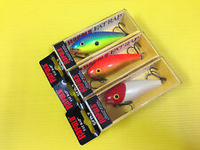 Lot C Three Rapala Shallow Fat Rap SFR-7 in RH, GFR & PRT Colors Lures, NIB.