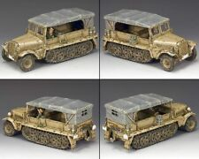 "KING AND COUNTRY  WW11 AFRIKA KORPS -2Sd.Kfz.10 Demag"" AK097 MILITAY 1.30 SCALE"