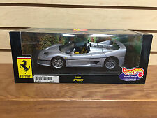 Ferrari 1995 F50 Hot Wheels Collectibles Exclusive 1:18 scale * Sleek Gray paint