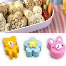 Sandwich Crust Cutter Cookie Bread Mold Bento Maker Rabbit Panda Flower 3 PCS