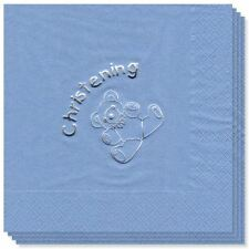 baby boy blue christening napkins tableware decorations party ware supplies