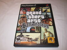 Grand Theft Auto: San Andreas (Playstation PS2) Original Complete w/Poster Exc!