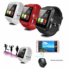 2016 Noir Smart Bluetooth 3.0 Watch  Android Montre Tactile Connectée Message