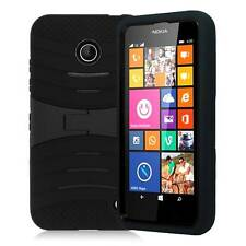 For Nokia Lumia 630 635 Hybrid Impact Rugged Hard Box Stand Case Cover + Stylus
