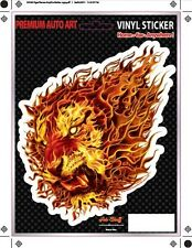 Lion Car Sticker - Tattoo Art - Tiger - Flames - Decal