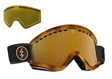 NEW Electric EGV Tortoise Tort Gold Mirror + yellow lens goggles 2016 Msrp$130