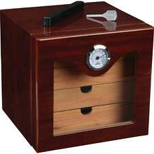 Cedar Lined High Gloss Exterior Finish 4 Drawer Humidor & Hygrometer  Humidifier