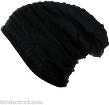 Woolen Black slouchy Beanie Cap, Skull, Winter and Woolen Cap head cap