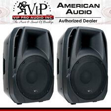 PAIR American Audio ELS15A 2-Way Active DJ/Club Amplified Loud-Speaker System