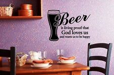 Wall Sticker Vinyl Decal Cool Design for Kitchen Beer Quote (ig1196)