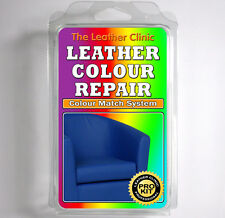 BLUE Leather Dye Colour Repair Kit for Scratched & Worn Leather