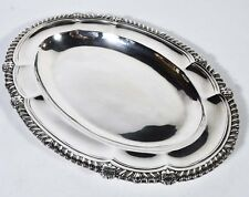 Antique English Georgian Sterling Silver Oval Platter by Paul Storr London 1814