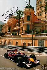 "F1 Formula One Driver David Coulthard Hand Signed Photo 12x8"" Autograph AH"