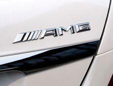 For Mercedes-Benz AMG Emblem Badge 3D Metal Chrome Decal Sticker Racing Car Logo