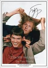 Dumb and Dumber, Jim Carrey And Jeff Daniels Signed Autograph Photo A4 PP