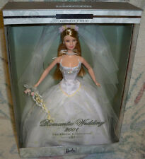 Romantic Wedding barbie Doll 2001 Bridal collection 2nd in series NRFB mattel