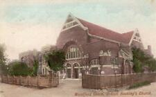 Woodford Green Joseph Hocking's Church Nr Stratford Old pc used 1906 Frith