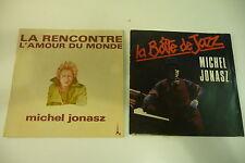 MICHEL JONASZ LOT DE 2 45T LA RENCONTRE / LA BOITE DE JAZZ.