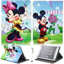 """Mickey Minnie Universal Leather Case For Amazon Kindle Fire 7 7"""" 5th Gen 2015"""