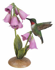 Vivid Arts - REAL LIFE BIRDS ON FLOWERS - Hummingbird With Foxglove
