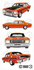 FORD FALCON XW GT HO 351 -  STICKER PACK ORANGE 4 MEDIUM STICKERS