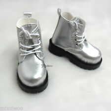 Mimi Collection MSD DOC 1/4 Bjd Obitsu 60cm Doll Boots High Hill Shoes SILVER