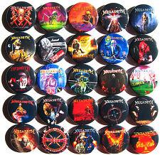 MEGADETH Thrash Metal Pins Buttons Badges Set Lot of 25