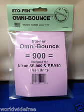 Sto-Fen Omni-Bounce 900 Diffuser f/Nikon SB-910 Flashes Stofen -Free World Ship