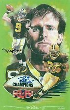 NEW ORLEANS SAINTS SUPER BOWL LXIV ART PRINT  LTD 44