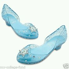 Authentic Disney Store Elsa Costume Light Up Shoes 2/3 NEW