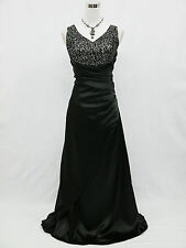 Cherlone Übergröße Schwarz Ballkleid Abendkleid Brautkleid Brautjungfer Kleid 46