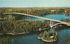 BG9612 autumn view of the 1000 island bridge st lawrence river canada