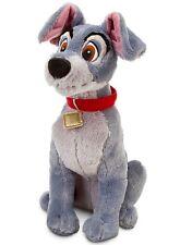 "DISNEY 16"" PLUSH LADY & THE ""TRAMP"" DOG MEDIUM STUFFED ANIMAL DOLL NWT USA NEW"