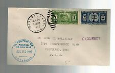 1935 Honduras High Seas United Fruit Co Paquebot Advertising Cleveland Cover