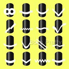 16 Sheets French Nail Tip Guides Stickers Set Strip Nail Art Manucure Decoration