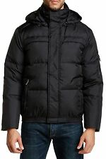ANDREW MARC Arctica Black Hooded Down Puffer Jacket Sz.XL  NWT