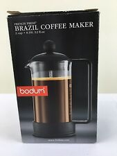 Bodum Brazil 3 cup French Press Coffee Maker, 12 oz, Black New