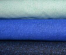 lot de 3 coupons de tissu patchwork Bleus  24x55cm