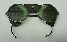 Vintage Heavy Steampunk Safety Glasses Goggles , Antique Sunglasses signed