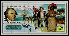 TONGA, SCOTT # 1017A, MINI SHEET OF JAMES COOK, RESOLUTION, 1999, MINT NH