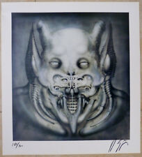 DAEMON Print by Giger  Signed 186/300  Archival paper. (Crease-discounted!)