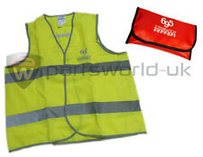 Official 500 Abarth 695 Tributo Ferrari Reflective Vest & Case 5743458 Brand New