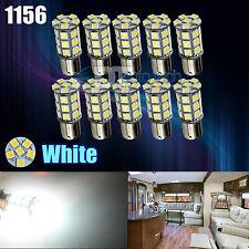 10X White 27 SMD LED 1156 1141 1003 RV Camper Trailer Interior Light Bulbs