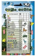 YAHTZEE DICE GAME FOR KIDS - FARM YATZY CHILDRENS DICE GAME 2-6 players